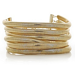 Red Herring - Gold multi row bracelet