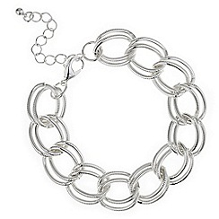 Red Herring - Silver multi link bracelet