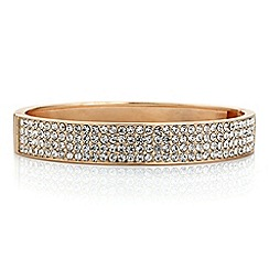 Red Herring - Rose gold crystal pave bangle