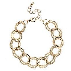 Red Herring - Gold multi link bracelet