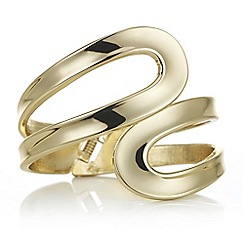 Red Herring - Gold open swirl hinged bangle