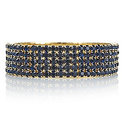Red Herring - Gold blue crystal diamante bracelet