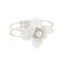 Red Herring - White flower bangle