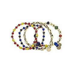 Red Herring - Multi colour beaded bracelet set