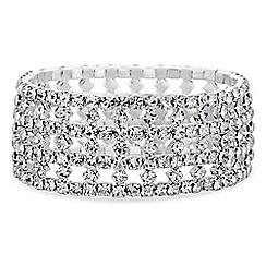 Red Herring - Silver diamante crystal bracelet