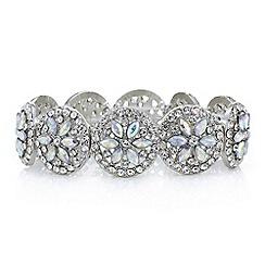 Red Herring - Crystal floral circle bracelet