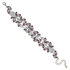 Red Herring - Purple crystal cluster bracelet