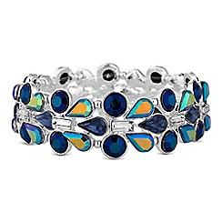 Red Herring - Blue crystal cluster bracelet
