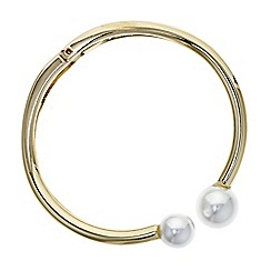 Red Herring - Gold pearl bangle