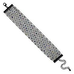 Red Herring - Aurora borealis crystal cuff bracelet
