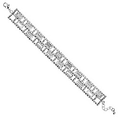 Red Herring - Silver crystal baguette bracelet