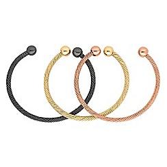 Red Herring - Multi tone cuff bracelet set