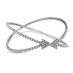 Red Herring - Diamante arrow cuff bracelet