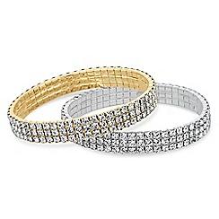 Red Herring - Multi tone diamante bracelet set