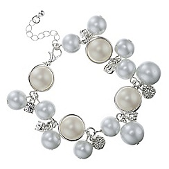 Red Herring - Pearl and pave ball bracelet