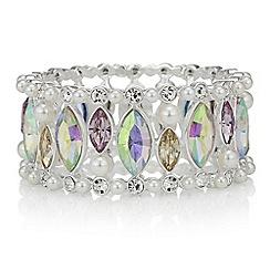 Red Herring - Pearl and crystal bracelet