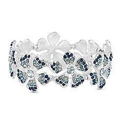 Red Herring - Pave floral bracelet