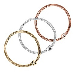 Red Herring - Multi tone crystal bracelet set