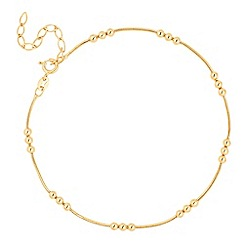 Simply Silver - Gold plated sterling silver trio ball anklet