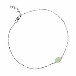 Simply Silver - Sterling silver semi precious amazonite anklet