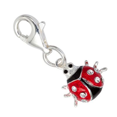 Sterling Silver Red Ladybird Charm