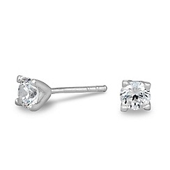 Simply Silver - Sterling silver mini cubic zirconia stud earring
