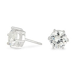 Simply Silver - Round  cubic zirconia stud
