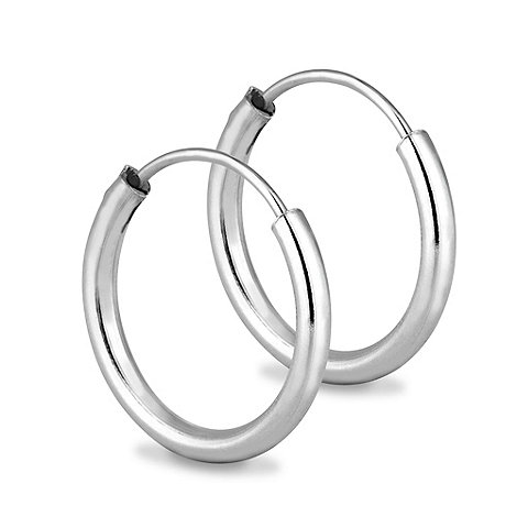 Simply Silver - Sterling silver small sleeper hoop earring