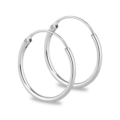 Simply Silver - Sterling silver 15mm sleeper hoop earring