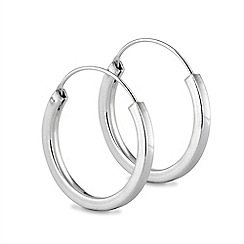 Simply Silver - Chunky sterling silver hoop earring