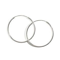 Simply Silver - Sterling silver fine large sleeper hoop earring