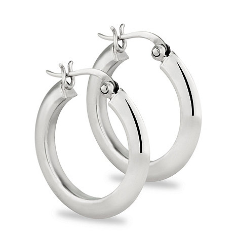 Simply Silver - Sterling silver chunky hoop earring