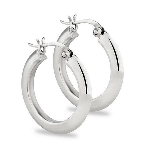 Simply Silver - Sterling silver chunky hoop earring