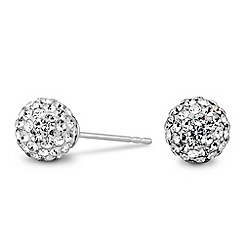 Simply Silver - Pave ball stud earring