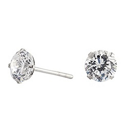 Simply Silver - Sterling silver cubic zirconia stud earring