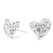 Blingy diamond heart-shaped earrings
