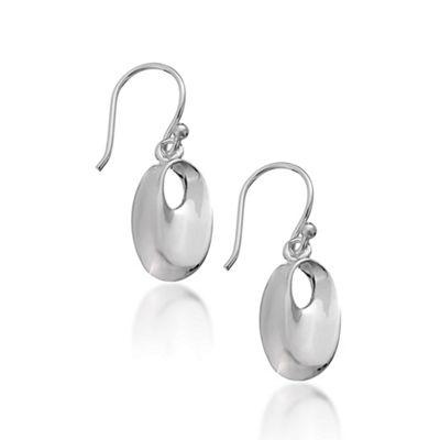 Sterling Silver Organic Oval Drop Earring