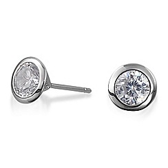 Simply Silver - Sterling silver surround cubic zirconia stud earring