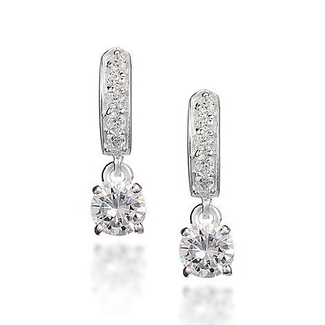 Simply Silver - Sterling silver cubic zirconia drop earring