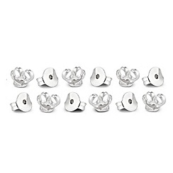 Simply Silver - Set of six sterling silver earring butterfly backs