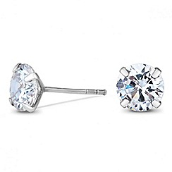 Simply Silver - Sterling silver cubic zirconia mini round stud earring