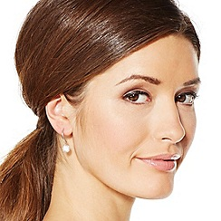 Simply Silver - Sterling silver contemporary cubic zirconia drop earring