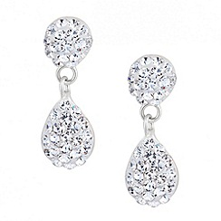 Simply Silver - Sterling silver pave crystal teardrop earring