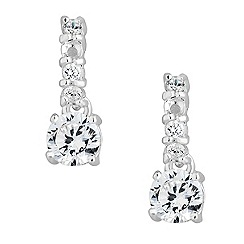 Simply Silver - Delicate sterling silver cubic zirconia earring