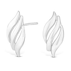 Simply Silver - Sterling silver triple wave earring