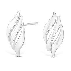 Simply Silver - Sterling silver triple wave earring