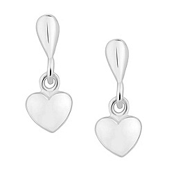 Simply Silver - Sterling silver heart drop earring
