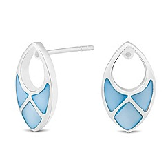 Simply Silver - Sterling silver blue mother of pearl earring