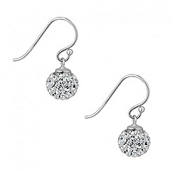 Simply Silver - Sterling silver crystal ball drop earring
