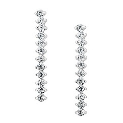 Simply Silver - Sterling silver cubic zirconia singular drop earring
